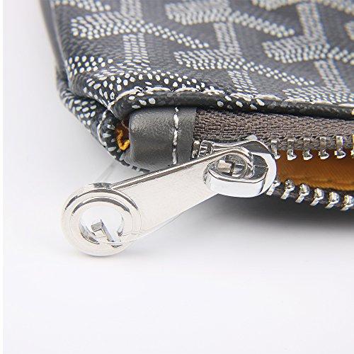 Grey Clutch Envelope Handbag Bag Fashion Clutch Women Stylesty Designer Purses for Women Pu Dark YxnOA8qwF