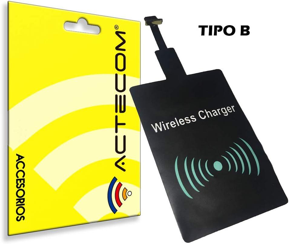 actecom® Receptor Carga QI INALAMBRICO MICROUSB Micro USB para MOVILES TELEFONO Smartphone Android Tipo B