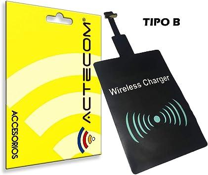 actecom® Receptor Carga QI INALAMBRICO MICROUSB Micro USB para ...