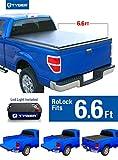 Tyger Auto TG-BC2C2059 RoLock Low Profile RollUp Truck Bed Tonneau Cover 2014-2018 Chevy Silverado/GMC Sierra 1500; 2015-2018 Silverado/Sierra 2500 3500 HD | Fleetside 6.5' Bed | w/o Utility Track