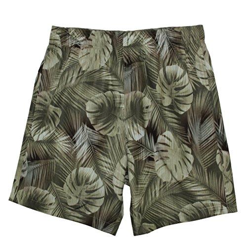 Laguna Originals Mens Coronado Tropical Palm Swim Trunks With Lace Drawcord In Khaki, Size - Gift Shop Coronado