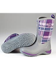 Muck Boots Womens Arctic Weekend Boot, Grey/Acai Purple Plaid, 5 B(M) US Womens