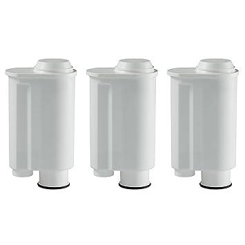 3 cartuchos de filtro de agua compatible con Saeco Phillips Intenza, Lavazza Gaggia, Café expreso a modo Mio Café y máquinas automáticas, ...
