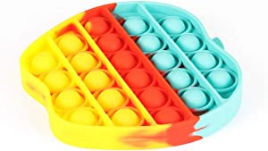 Chrisfishy Pop Fidget Toys for Anxiety Push Pop Pop Bubble Sensory Fidget Toy, Silicone Stress Reliever Toy (Apples)