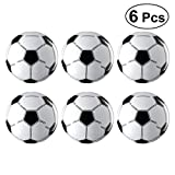 YeahiBaby 6pcs Inflatable Soccer Balls World Cup Party Favors Supplies Decorations (White and Black)