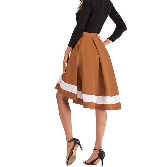 a6ae68a0b20f9b Moonuy Femmes Nouvelle Robe Dames De Mode Rayure Imprimer Jupe ...