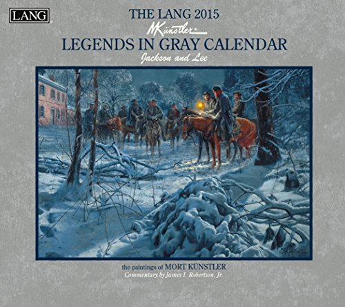 Lang January to December, 13.375 x 24 Inches, Perfect Timing Legends in Gray 2015 Wall Calendar by Mort Kunstler (1001819)