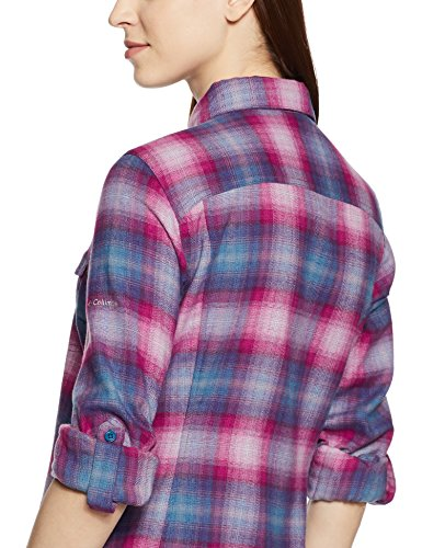 Ridge Plaid Longues Femme Chemise Long Ombre Phoenix Columbia Silver Blue Manches Flannel Sleeve Z567x5FCwq