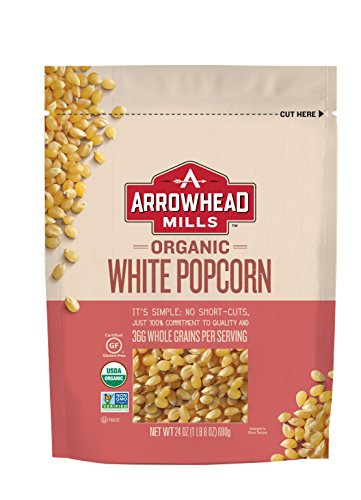 Arrowhead Mills Organic White Popcorn, 24 oz. Bag (Pack of 6) (Best Tasting Popcorn Kernels)
