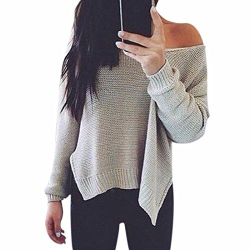 QIYUN.Z Frauen Unregelmäßigen Rand V-Ausschnitt Aushöhlen Pullover