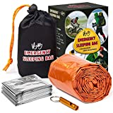 Vijoly Emergency Sleeping Bag - Survival Sleeping Bag, Emergency Bivy Sack with Safety Whistle,...