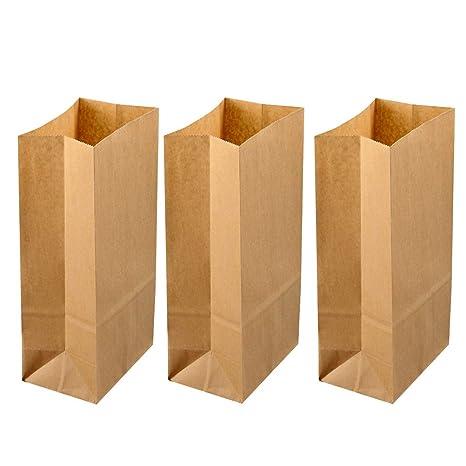 Amazon.com: BESTONZON 100pcs Kraft Food Bags Packaging Paper ...