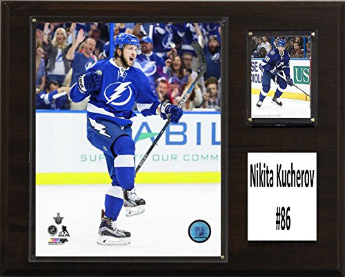 "C&I Collectables NHL Tampa Bay Lightning Nikita Kucherov Lighting Player Plaque, Brown, 12"" x 15"""