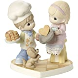 Precious Moments You Make My Heart Flip Couple Baking Pancakes With Dog Bisque Porcelain Figurine 171034