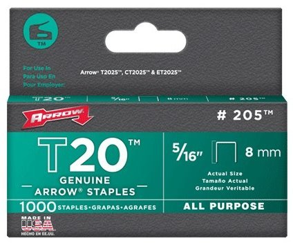 """Arrow T20 1//2/"""" 12mm Staples Pack of 1000"""