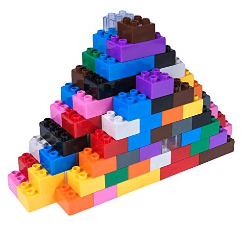(Strictly Briks Classic Big Briks Building Brick Set 100% Compatible with All Major Brands | Large Pegs for Toddlers | Ages 3+ | Building Bricks with Big Pegs, 204 Piece | 12 Rainbow Colors)