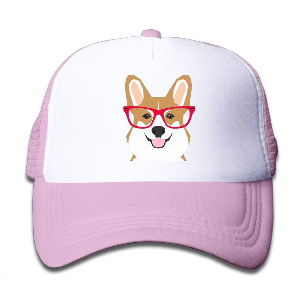Clarissa Bertha Cute Corgi A Red Glass Kids Boys' Girls' Baseball Caps Mesh Hats