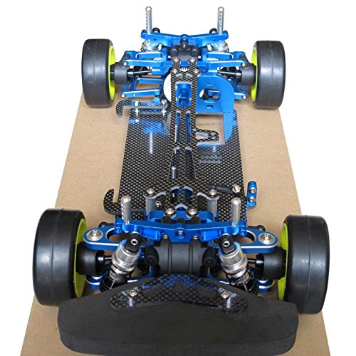 Hobbypower 1/10 Alloy Carbon TT01 TT01E Shaft Drive 4WD Racing Touring Car Frame Kit ()
