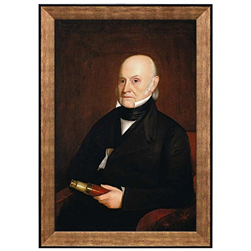 Portrait of John Quincy Adams by William Hudson Jr (6th President of the United States) American Presidents Series Framed Art Print