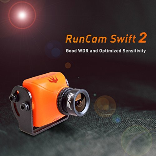 RunCam Swift 2 600TVL FPV Camera Mini 2.3mm for Quad Flying Drones150 Degree OSD WDR DC 5-36V NTSC Integrated MIC for Multicopter Orange For Sale