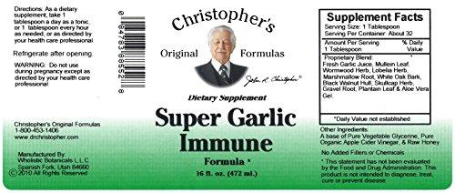 Christopher's Original Formulas Super Garlic Immune Syrup, 16 Ounce
