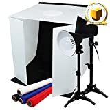 "Limo Premium Pro Studio Table Top Photo Studio 24"" X 24"" Soft Tent Kit with 1200-1300 Lumens Led Lights"