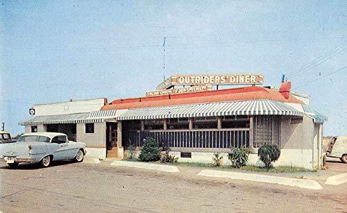 Laurel Maryland Outriders Diner Roadside America Vintage Postcard AA240