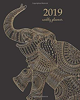 Elephant 2019 Planner Organize Your Weekly Monthly Daily Agenda