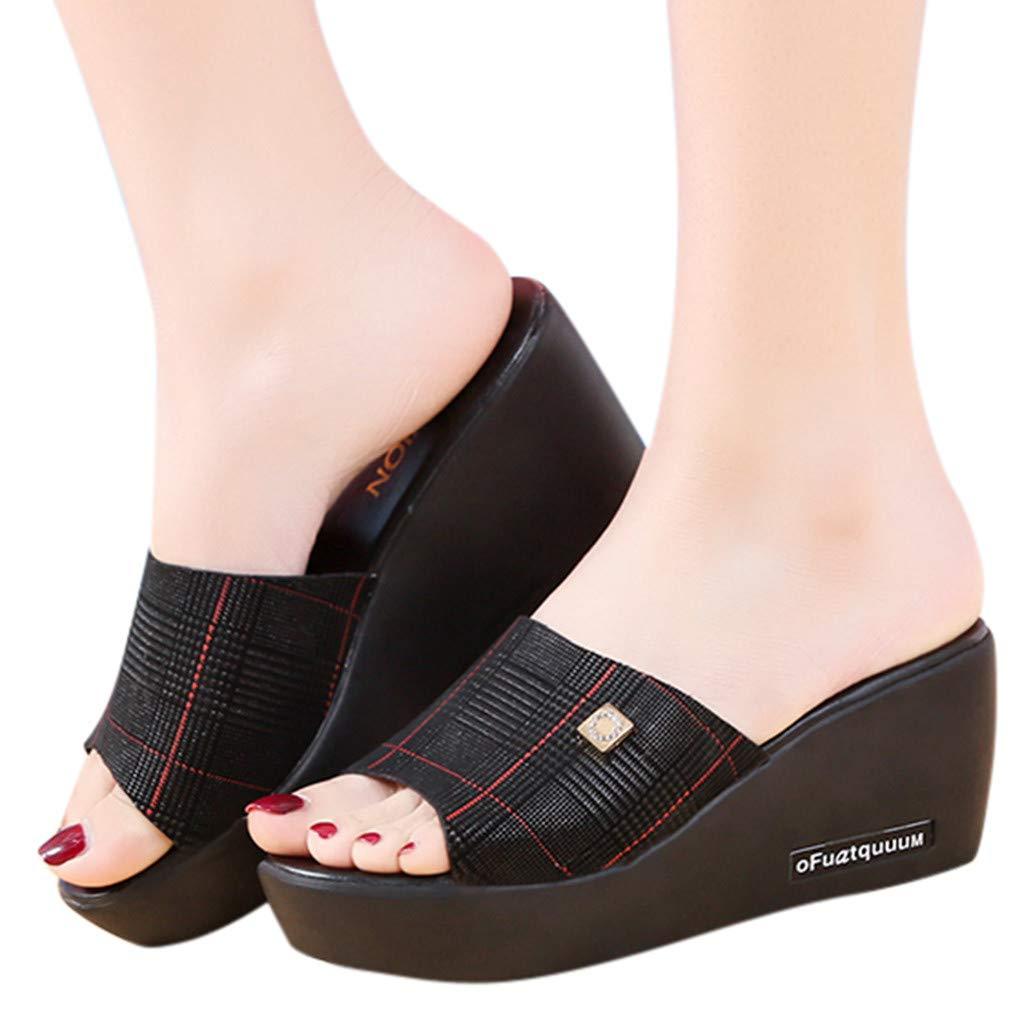 Molly-1 Pierre Dumas Platform Sandal Wedge Thick Heel Stretch Fabric Slide Comfy