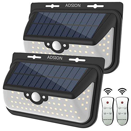 Adsion Motion Sensor Light 68 Super Bright Led Wall Solar