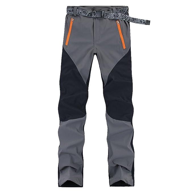 99d6ad96a6a YiLianDa Pantalones de Trekking Hombre Pantalones de Softshell Pantalones  de Montaña Impermeables Resistente al Viento Transpirable de Escalada:  Amazon.es: ...