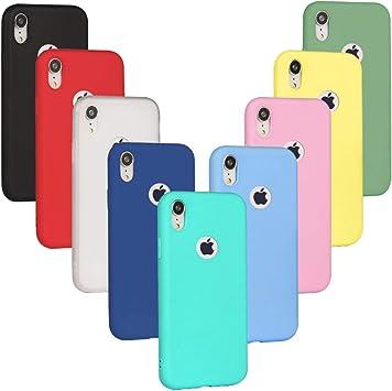 9 x Funda iPhone XR, XiaoXiMi Cárcasa Silicona TPU, Funda Ultra-Delgado Flexible: Amazon.es: Electrónica