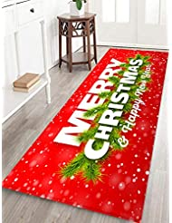 Amazon Com Christmas Kitchen Rugs Kitchen Table Linens Home