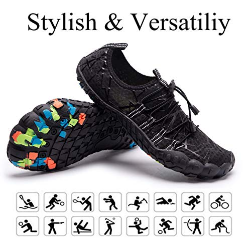52d10d6d3ed ... LINGTOM Womens Mens Aqua Water Shoes Quick Dry Barefoot Sports Exercise  for Walking Swimming Diving Beach ...