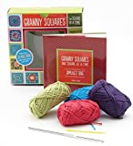 Granny Squares, One Square at a Time / Amulet Bag Kit: Includes hook and yarn for making two amulet bag necklaces - Featuring a 32-page book with instructions and ideas