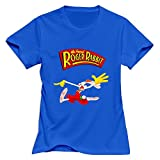 Who Framed Roger Rabbit O Neck Women T-Shirt RoyalBlue Size XXL Sport By Rahk