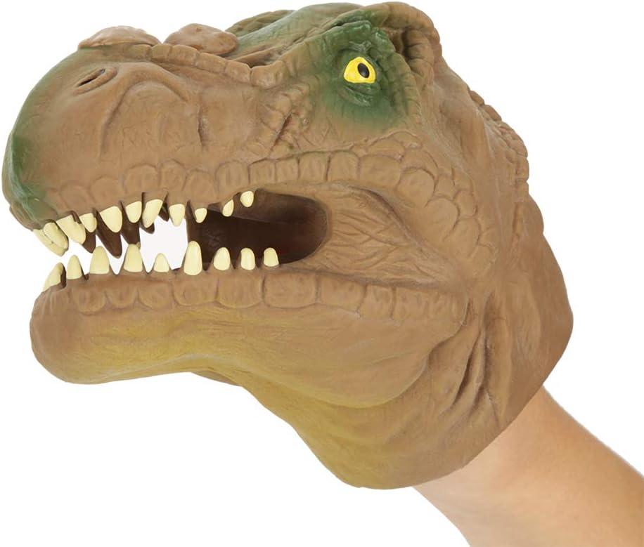 Guantes de Marioneta de Mano de Dinosaurio, Juguetes de Dragón de Goma con Cabeza de Tiranosaurio de 6 Pulgadas para Niños Jurassic World
