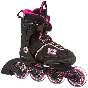 K2 Mädchen Inline Skate Roadie Junior Pack, mehrfarbig, M, 30A0724.1.1