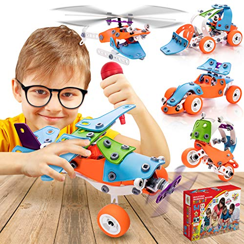 STEM Learning Toys Building Set for Boys 5-12 - 151 Pcs - Airplane Set Kit,Building Toys Set For Boys And Girls Ages 5 6 7 8 9 10 + Year Old | STEM Engineering Construction Kit | Gift Box Set for Kids