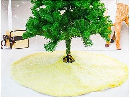 yunqir christmas tree skirt christmas tree apron christmas tree decorationyellow