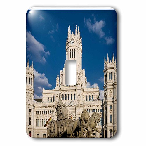 3dRose Cities Of The World - Cybele Palace In Madrid, Spain - Light Switch Covers - single toggle switch (lsp_268658_1) by 3dRose