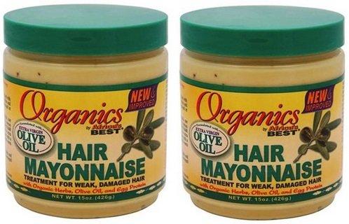 Olive Hair Mayonnaise Oil (Africa's Best Organics Hair Mayonnaise, (2 Pack of 15 oz))
