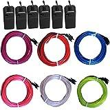 6 Pack - TDLTEK Neon Glowing Strobing Electroluminescent Wire /El Wire