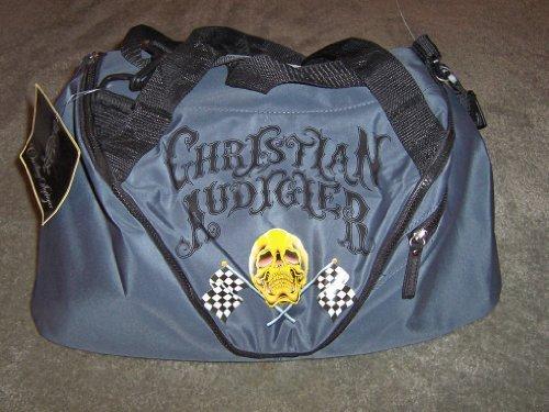 Audigier Bag - Christian Audigier Skull / Flag Duffle Bag