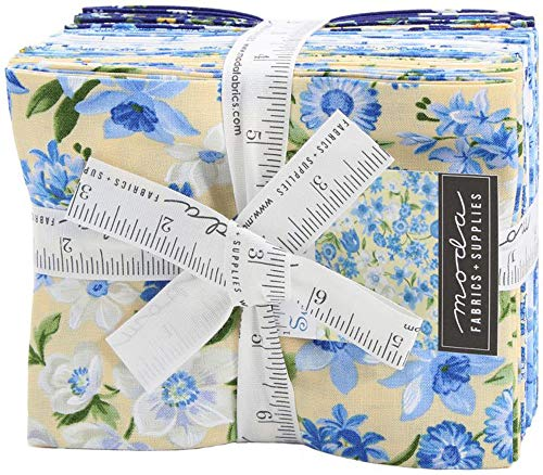 Moda Fabric Moda Summer Breeze VI Fat Quarter Bundle 16 FQs Precut Cotton Fabric Quilting FQs Assortment 33370AB, Assorted