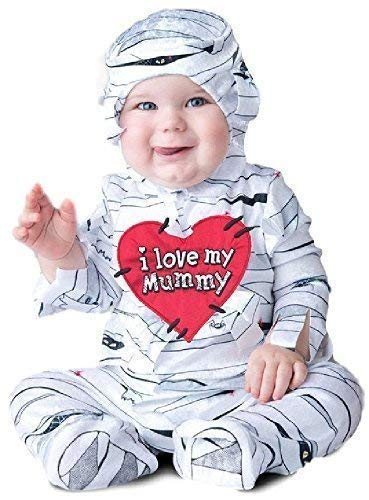 Baby Boys Girls Lovable Egyptian Mummy Sleepsuit Halloween Scary Horror Cute Fancy Dress Costume Outfit 6-24 mnths (6-12 months)]()