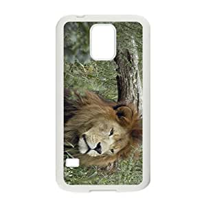 Lion Hight Quality Plastic Case for Samsung Galaxy S5 by runtopwell