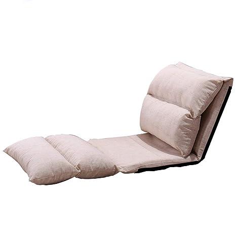 Amazon.com: Silla de piso GY, sofá plegable, 6 archivos, se ...