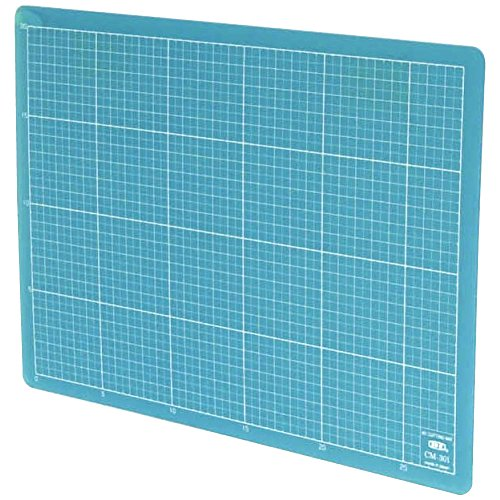 (NT Cutter Colorful Translucent Cutting Mat, 9 x 12 Inches, Translucent Blue, 1 Mat (CM-30I-B))