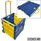 Voche® Pack 'n' Go Large Folding Shopping Trolley 35kg Boot Storage Cart